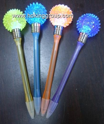 Flashing ball pen with toys