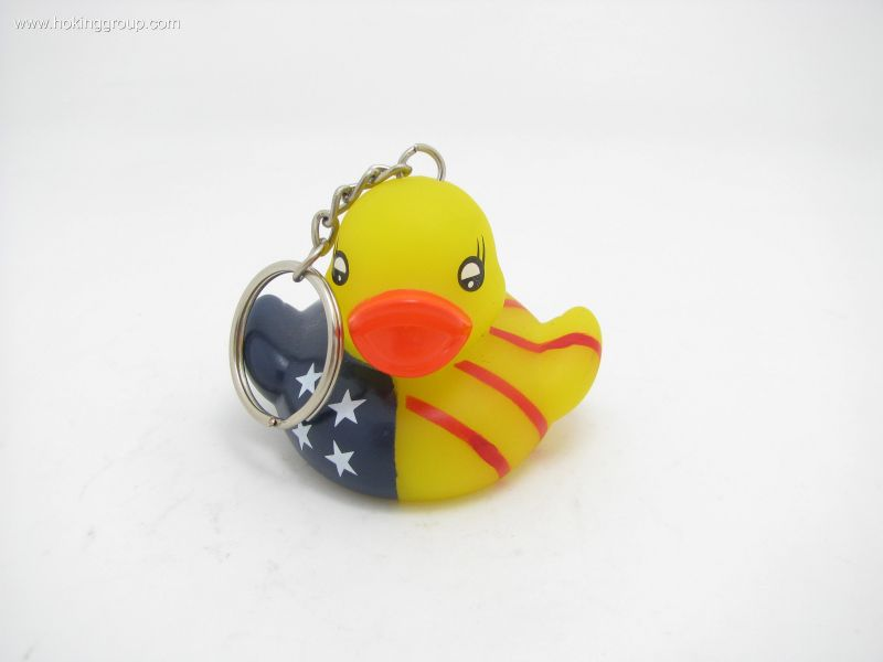 duck with keychain