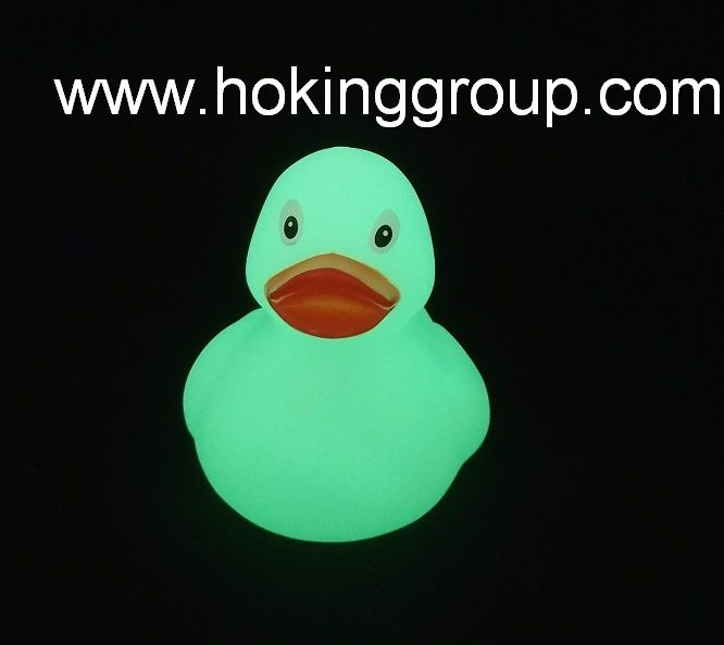Glowing in the dark rubber bath duck