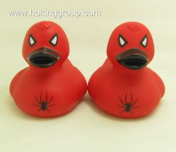 Bath duck spiderman